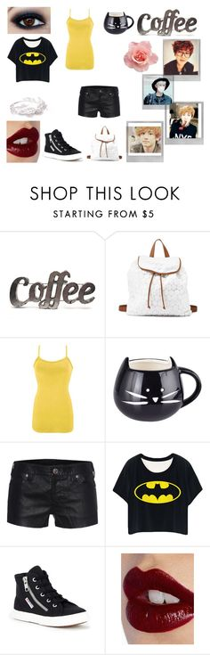 """""""Coffee with Chanyeol"""" by wu-yifan-kris-exo ❤ liked on Polyvore featuring Rustic Arrow, Charlotte Russe, BKE, True Religion, Superga, Polaroid and Charlotte Tilbury"""