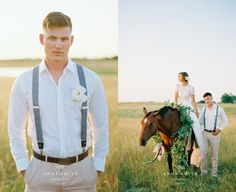 Horse Ranch Southern Wedding  ~ gorgeous Bride & horse.  Dress by Watters.  Styled by Keestone Events.  Florals by Lizzie Bee's.