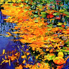 "Saatchi Art Artist: Phyllis Wolff; Oil 2010 Painting ""Purple Autumn Pond II"""