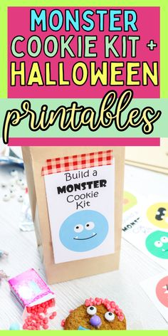How to make monster cookies. Cute Halloween cookie activity. How to make Halloween cookies. Halloween Cookies, Cute Halloween, Halloween Treats, Quick And Easy Crafts, Fun Activities, Cookies Et Biscuits, Printables, Kit, Print Templates