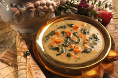 Cream of Spinach and Yam Soup
