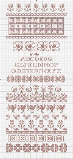 band sampler | Embroiderbee's Primary Hive