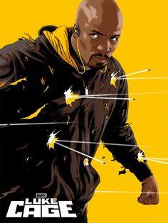 Mondo Luke Cage Poster Epic Daredevil, Jessica Jones & Luke Cage Mondo Posters Now Available