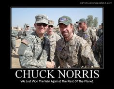 Chuck Norris/ Military humor