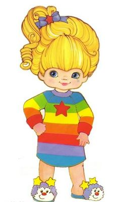 This was me as a child. If only I could find a photo to do a side by side 😂 ❤️ rainbow brite Love Rainbow, Over The Rainbow, Rainbow Colors, 90s Childhood, My Childhood Memories, Rainbow Brite, 80s Kids, Old Cartoons, Retro