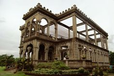 """Known as """"The Ruins"""", this striking structure in the Philippines is the skeletal remains of the home of young sugar baron Don Mariano Ledesma Lacson. Located in Talisay City, Negros Occidental, the grand house was reportedly set alight by US forces during World War Two in a bid to prevent the Japanese using it as a headquarters."""
