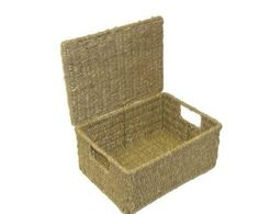 BRAND NEW SEAGRASS STORAGE BASKET BOX WITH LID XLARGE(new design): Amazon.co.uk: Kitchen & Home