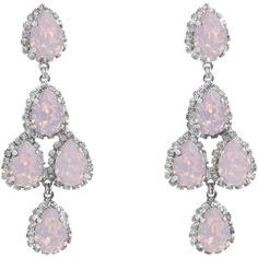 6. Erickson Beamon Pink Opal Duchess of Fabulous Chandelier Earrings…