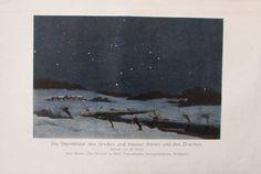 1931 STERNBILDER DES GROSSEN KLEINEN BÄREN alter Druck Antique Print Lithografie | eBay