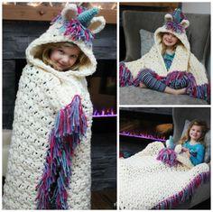 Unicorn Crochet Hat Scarf Pattern