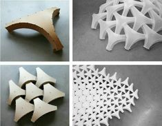 Physical models and mock-ups informed the geometric model of the Undulatus. – Wentong Xie Physical models and mock-ups informed the geometric model of the Undulatus. Physical models and mock-ups informed the geometric model of the Undulatus. Impression 3d, Origami Fashion, Architecture Paramétrique, Architecture Geometric, Conceptual Architecture, Architecture Diagrams, Architecture Portfolio, Shell Structure, Folding Structure