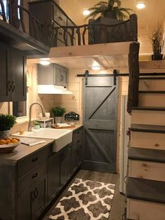 This is the Dandelion Tiny House on Wheels by Incredible Tiny Homes. It features a wood clad exterior siding, lots of windows, exterior storage, and it sits on a sturdy triple-axle trailer.… homes Dandelion Tiny House Built by Incredible Tiny Homes Tyni House, Tiny House Cabin, Tiny House Living, Tiny House Plans, Tiny House Design, Tiny House On Wheels, Tiny House With Loft, Tiny House Bedroom, Tiny House Stairs