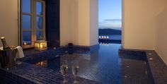 enjoy the sunset and dusk from your private jacuzzi  IKIES, Oia, Santorini, Greece