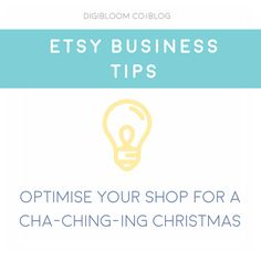 Etsy tips for the Christmas holiday season by Digibloom. Optimise your SEO with former Etsy admin's mega tips for Christmas. Including a secret  tip for leveraging your listings in search using Editors' Picks!