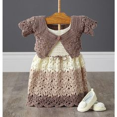 Mary Maxim - Lacy Dress and Shrug - 6-9 months - Baby