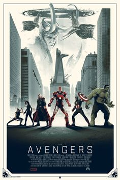 """The Avengers"" - Limited Variant Edition - Marvel Comics Movie Poster – Grey Matter Art"