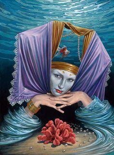 'Encargado de Profundidad' por Michael Cheval - óleo sobre lienzo, 2010