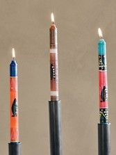 Pendleton Handpainted Feather Candles, Set Of 3