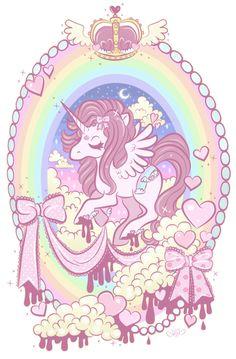 Would be bad ass get on my leg :) kawaii loveeeee Unicornios Wallpaper, Kawaii Wallpaper, Art Pastel, Pastel Grunge, Geniale Tattoos, Desenho Tattoo, All Things Cute, Creepy Cute, Rainbow Unicorn