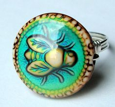 Honey Bee Mood Ring Color Changing Novelty Ring Wire Wrapped in Sterling Silver Cocktail Ring Statement Ring on Etsy, $17.00