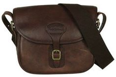 Barbour Brown Leather Cartridge Bag Smyths Country Sports