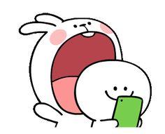 LINE Creators' Stickers - [Animation] Spoiled Rabbit 2 Example with GIF Animation Baby Cartoon Characters, Graffiti Characters, Cute Cartoon Images, Cute Love Cartoons, Cute Pokemon Wallpaper, Cute Disney Wallpaper, Rabbit Gif, Cute Puns, Cute Love Gif