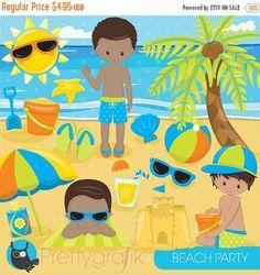 80 % OFF SALE Strand Partei Clipart von Prettygrafikdesign auf Etsy