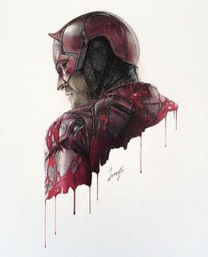 Daredevil By: @franzenarts @tattooed_body_art @tattooed_body_art