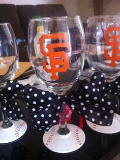 SF wine glass  $15 http://www.etsy.com/listing/94834940/san-fan-giants-wine-glass
