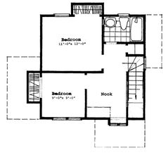 Cottage House Plan chp-14593 at COOLhouseplans.com Plan ID: chp-14593, Order Code: C132     880 sq ft  First Floor:478 sq. ft. Second Floor:402 sq. ft. Total Living Area:880 sq. ft.