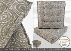French Mattress Edge Floor Cushions - learn how to make this stabilizing classic edge: Waverly World | Sew4Home