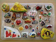 malované kamínky Cookies, Crack Crackers, Biscuits, Cookie Recipes, Cake, Cookie, Snack Cakes, Biscuit