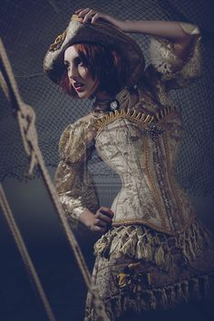 Captain Hook Ideas    Queen Pirates by ~PhantomOrchid  #Steampunk #Fashion #Couture