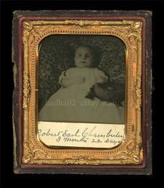 Poignant Post Mortem Ambrotype Boy with Sunken Eyes Robert Earl Chamberlin | eBay