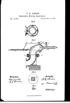 Patent Drawing, Thales Curtis, engineer