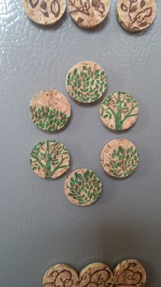 Stamped wine and Champaign cork magnets. Perfect for the fridge or the cubicle!
