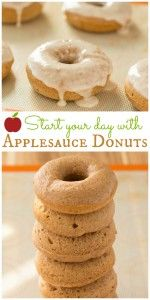 This Applesauce Donut Recipe is low in fat and big in flavor. Treat yourself to these easy doughnuts for breakfast!