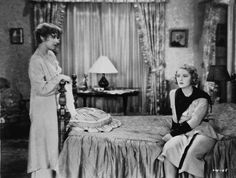 Joan Blondell and Dorothy Mackaill in The Office Wife.  This was Joan Blondell's first film.