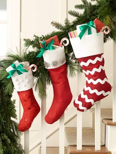 Three Easy Embellishments for Ready-Made Felt Christmas Stockings