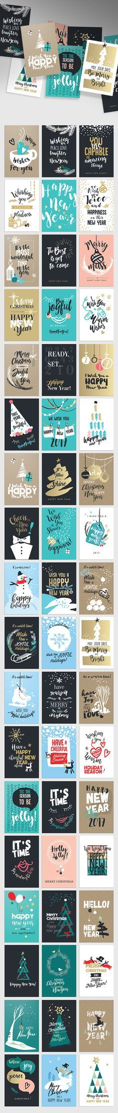Christmas and New Year's Greeting Cards on Behance