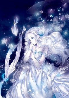 #anime #black ~ Reminds me of Yue from Avatar the Last Airbender