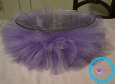 Cake Stand Tutu- Party Decorations- Special Event- Handmade Decor- I love how this cake plate tutu turned out!