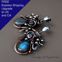 Flower of Maghir Fine Silver Copper Sterling by SkyAndBeyond