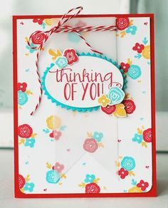 Recipe Remix - Thinking Of You Card by Betsy Veldman for Papertrey Ink (August 2013)