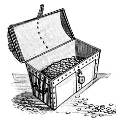 treasure chest lock coloring pages - photo#25
