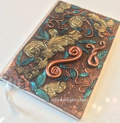 Enchanted Dream Polymer Clay Journal / Book by leFayDesign on Etsy