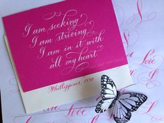 Hot pink calligraphy