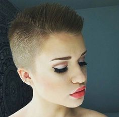 Awesome Cropped & Buzzed Pixie Cut  Thanks @_laakso_  #UCFeed…