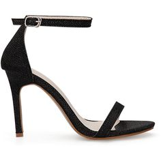 Yoins Black Cross Strap High Heels With Ankle Pin Buckle Strap (2,600 INR) ❤ liked on Polyvore featuring shoes, sandals, heels, sapatos, black, high heel sandals, heeled sandals, black stilettos, black high heel shoes and stiletto heel shoes
