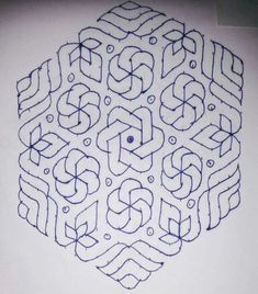 Ideas for flowers drawing simple geometric Indian Rangoli Designs, Small Rangoli Design, Rangoli Designs Images, Rangoli Ideas, Rangoli Designs With Dots, Rangoli With Dots, Beautiful Rangoli Designs, Simple Rangoli, Lotus Rangoli